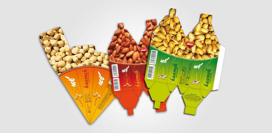 بسته بندی خشکبار و آجیل خیری بسته بندی محصولات خشکبار کامه - رسانقش